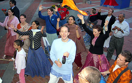 Hare Krishna Sankirtana Party Shines at Stanford University in Palo Alto