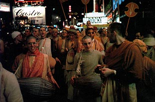 Harinama Revived in World Famous Times Square