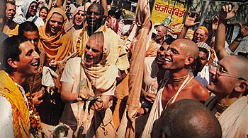 Hare Krishnas Chant Hare Krishna in Hollywood for Halloween