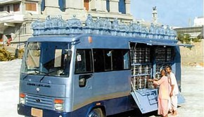 ISKCON Bangalore Prasadam Distribution Bus