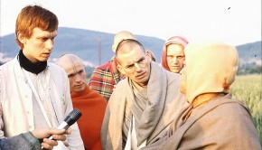 Prabhupad speaking to Hansadutta and devotees Everyone looks shocked