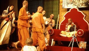 German Disciples offer Guru Puja to Srila Prabhupada