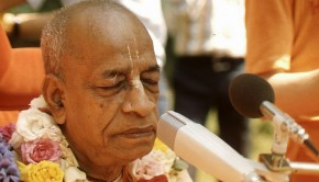 Srila Prabhupada's face meditating with closed eyes