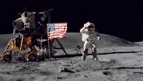 NASA Apollo Astronaut on the Moon