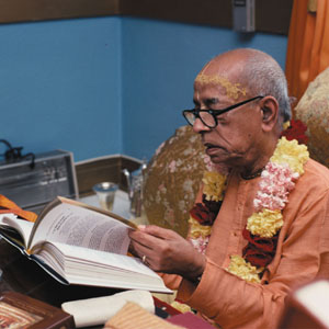 Srila Prabhupada reading Srimad Bhagavatam