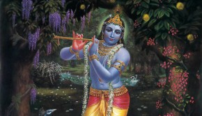 Krishna Plays on His Flute in the Forrest of Vrindavan