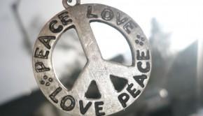 peace and love pendant