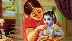 Mother Yasoda Feeds Child Krishna
