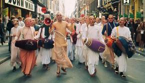 Ecstatic Hare Krishna Sankirtan Chanting of Hare Krishna in Germany 1974