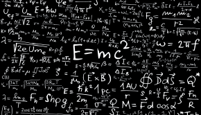 Physics Blackbord of Famous Equations