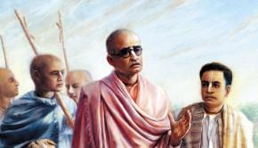 Bhaktsiddhanta and Srila Prabhupada Walking