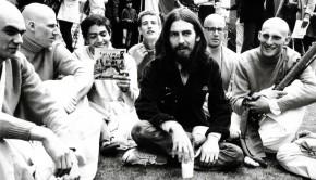 George Harrison and Hare Krishna Devotees in 1970