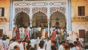 Radha Damodar Temple with Indians