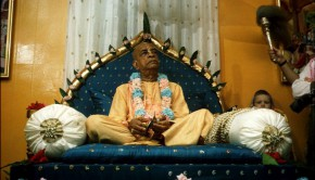 Srila Prabhupada on Blue Vyassasana