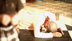 Srila Prabhupada offering obeisances to Radha-Krishna