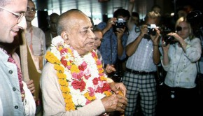 Srila Prabhupada at Airport