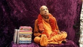 Srila Prabhupada with his original books