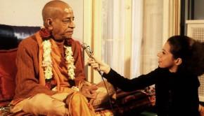 TV Reporter Interviewing Srila Prabhuapda