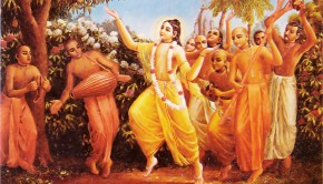 Lord Caitanya Dances with His Followers