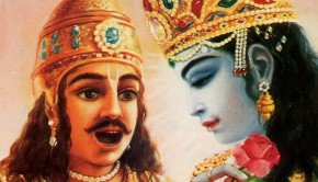 Arjuna and Krishna the King of Knowledge