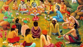 Krishna enjoying with His friends