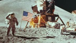 nasa astronaut on the moon