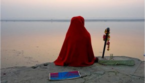 Sadhu Meditating on the Bank of the Ganges