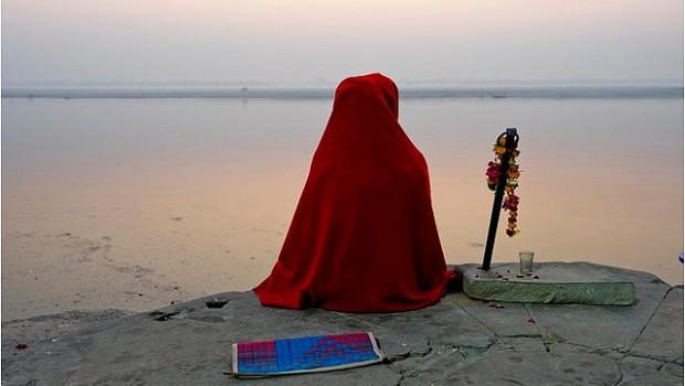 Sadhu Meditating on the Bank of the Ganges