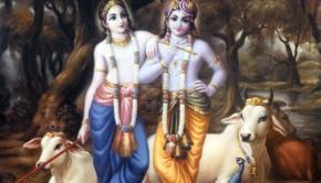 Krishna and Balaram in Vrindavan
