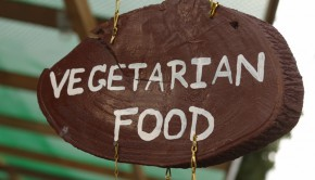 vegetarian food sign