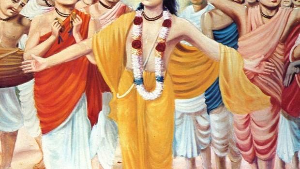 Lord Caitanya and the Panca Tattva Performing Hare Krishna Sankirtan (chanting)
