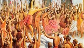 Lord Caitanya Dances in Hare Krihsna Sankirtan