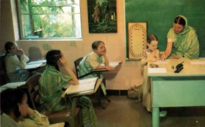 "Personalized teaching insures a high standard of education at Gurukula, ISKCON's primary and secondary school system. In his book Hare Krishna and the Counterculture (John Wiley and Sons, Inc.), Dr. J. Stillson Judah of the Graduate Theological Union says, ""The student is taught to be kind to everyone, not to be quarrelsome, to be charitable, clean, benevolent, self-controlled, completely devoted to God and free from material desires."""