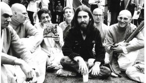 George Harrison with Hare Krishna Devotees at a Festival