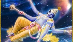 maha vishnu creating the universes