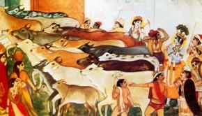 Krishna In His Planet Goloka Vrindavan