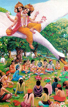 Brahma plans to steal Krishna's cowherd boy friends.
