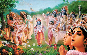 Krishna takes compasion on Brahma