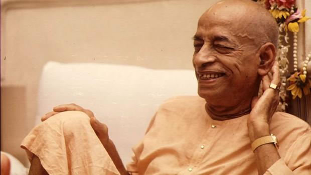 Srila Prabhupada smiling in Vrindavan