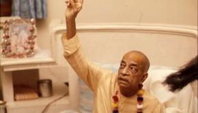 Srila Prabhupada Preaching -- Pointing Up