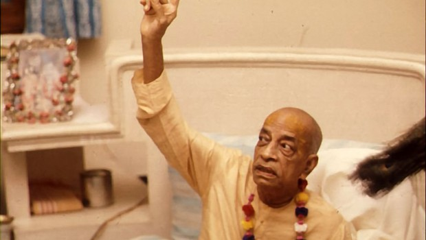 Srila Prabhupada Preaching -- Pointing Up