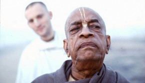 Srila Prabhupada Looking Grave on Morning Walk