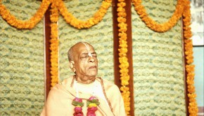 Srila Prabhupada Meditating at Pandal Program in India
