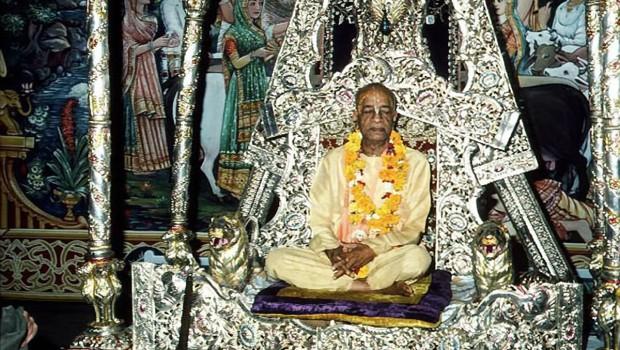 Srila Prabhupada on Silver Throne