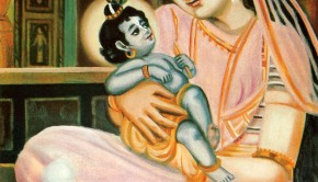 Mother Yasoda Nurses newborn Baby Krishna