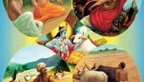 Bhagavad-gita Plate 42 Varnasrama Four Varnas and Four Ashrams