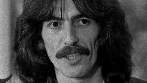 George_Harrison_1974 wearing Radha Krishna Broach