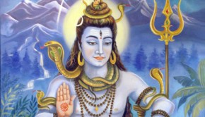 Lord Shiva with Himalayas in Background