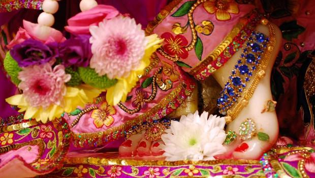 Krishna's lotus feet ISKCON New Orleans