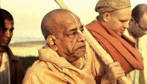 Srila Prabhupada on morning walk in grave mood
